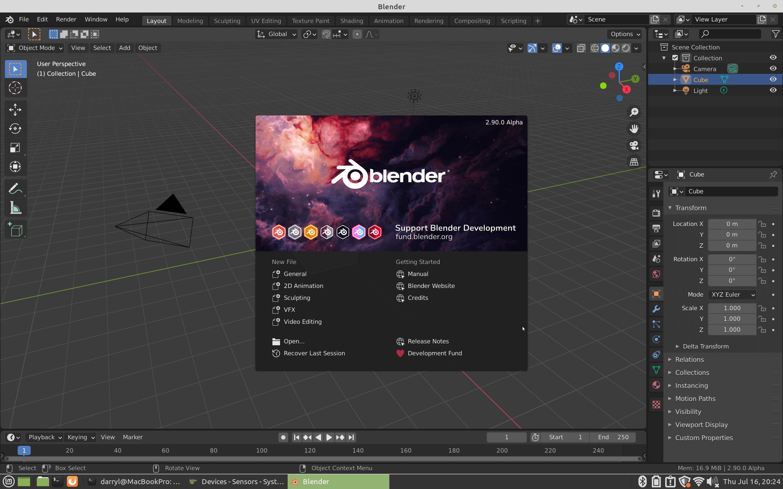Compile Blender 2.90 on Linux