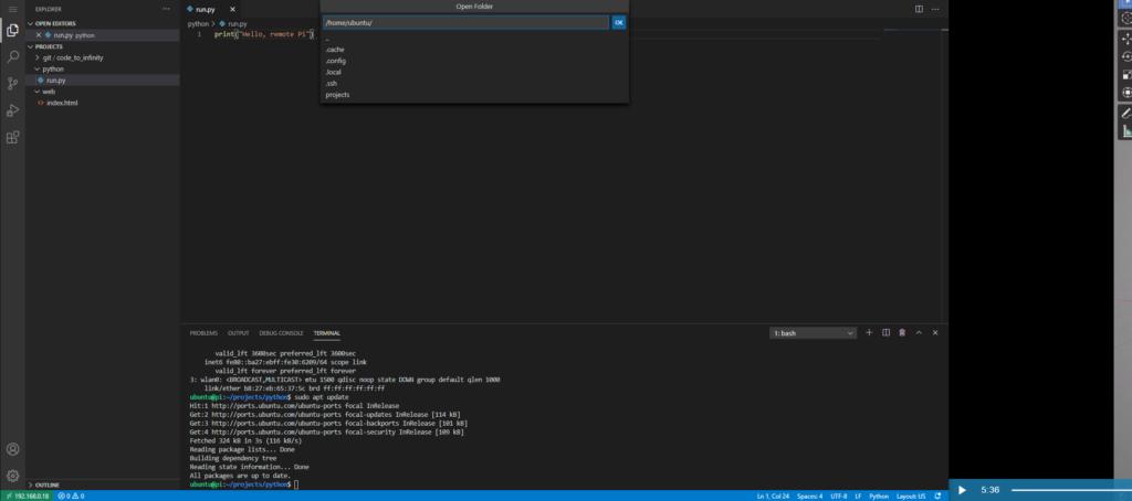 Turn Raspberry Pi into a remote Linux development environment.