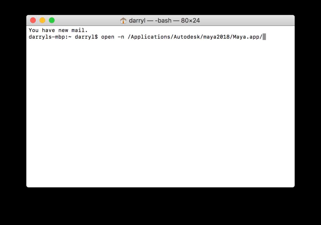 Open multiple instances of Maya on Mac OS Image 2